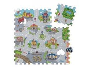 Chicco Puzzle penové Mesto 30x30cm 9ks