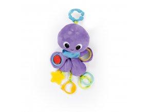 Bright Starts Hračka na C krúžku Twirly Whirly chobotnička 0m+
