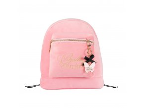 Back pack, Pink velvet
