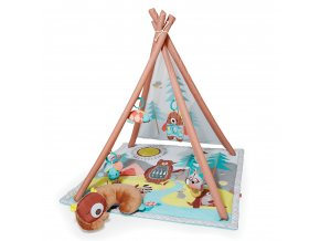 Skip Hop Deka na hranie 4 hračky, vankúšik Camping Cubs 0m+