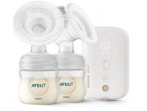 Avent odsávačka materského mlieka elektr. Duo nabíjacia SCF398