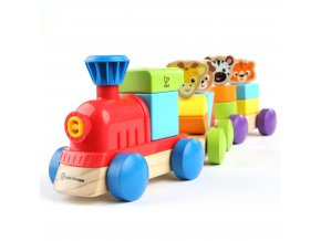 Baby Einstein Hračka drevená Discovery Train HAPE 18m+