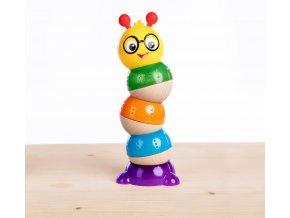 Baby Einstein Hračka drevená stohovateľná Balancing Cal HAPE 12m+