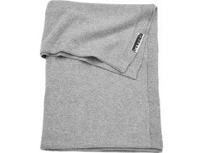 deka meyco knit basic do kocika alebo kolisky 75 x 100 cm grey melange 1