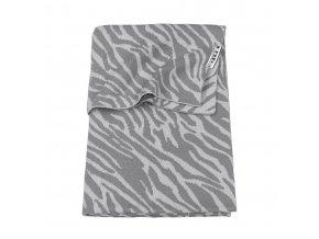 deka meyco zebra do kocika alebo kolisky 75 x 100 cm grey