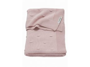 deka meyco knots do kocika alebo kolisky 75 x 100 cm pink