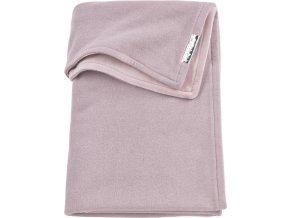 zamatova deka meyco knit basic do kocika alebo kolisky 75 x 100 cm lilac