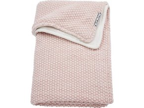zamatova deka meyco relief mixed do kocika alebo kolisky 75 x 100 cm pink