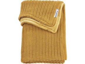 zamatova deka meyco harringbone do kocika alebo kolisky 75 x 100 cm honey