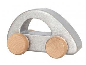 w7173 wooden car silver