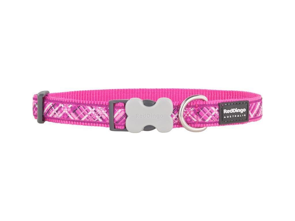 Obojek RD FLANNO hot pink 1,6/24-36cm