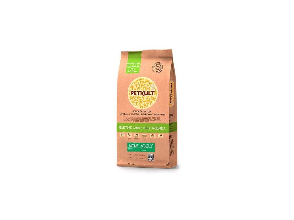 Petkult dog MINI ADULT lamb & rice 2Kg