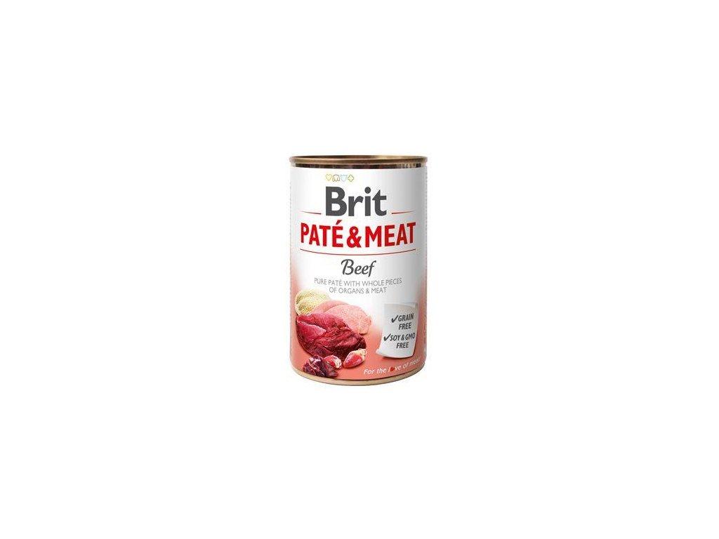 Brit Dog konz Paté & Meat Beef 400g 5+1 zdarma