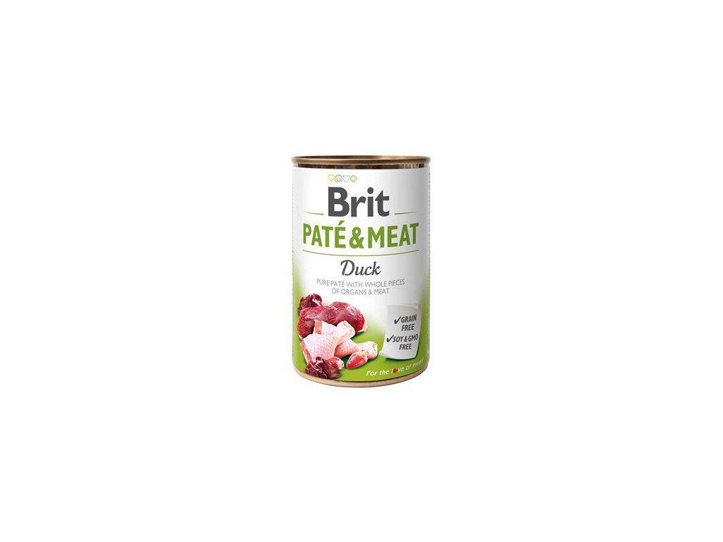 Brit Dog konz Paté & Meat Duck 400g 5+1 zdarma