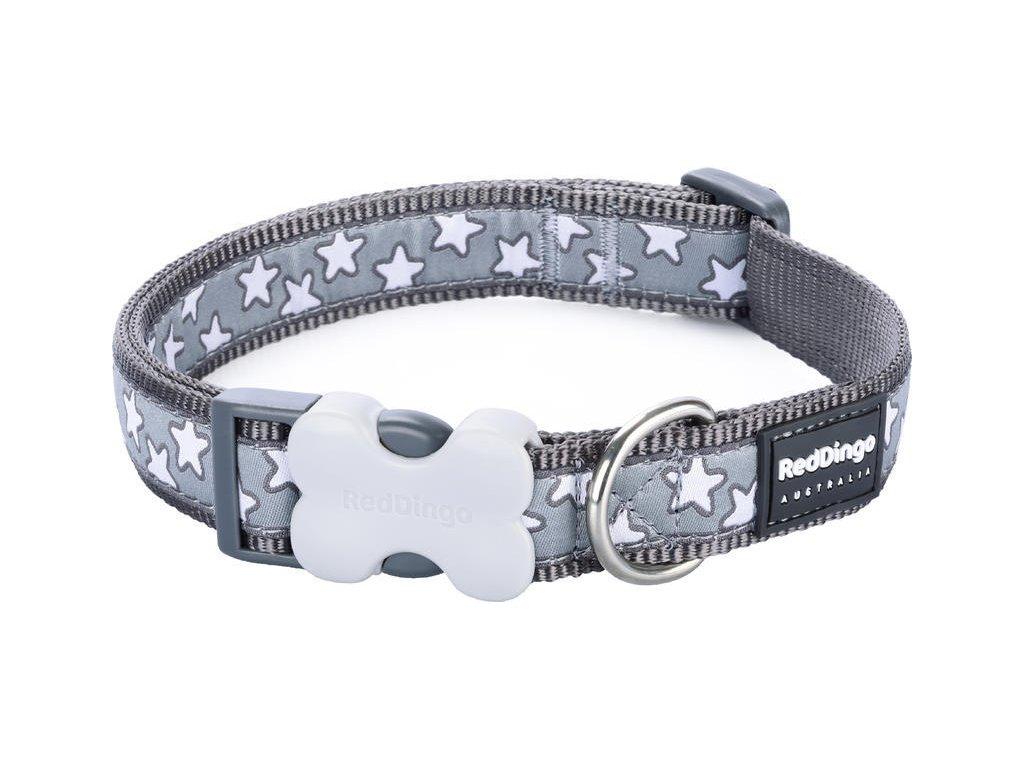 Obojek RD stars COOL GREY 1,5cm/24-36cm