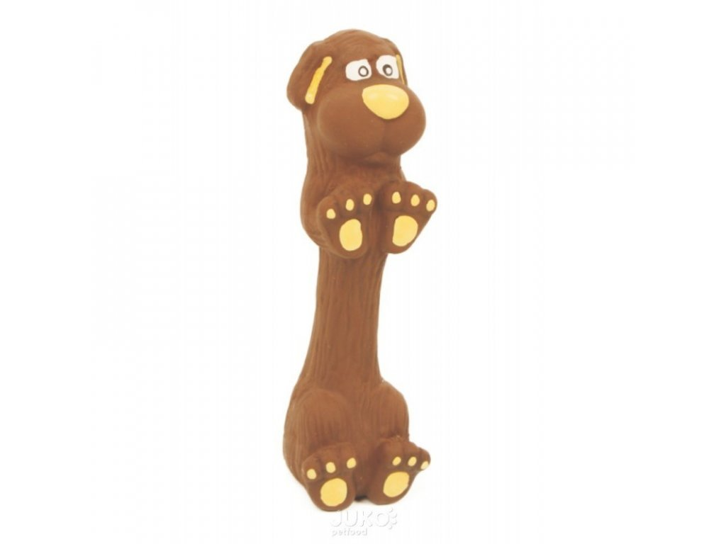 Latexová hračka s pískadlem-Jezevčík velký 22,5cm