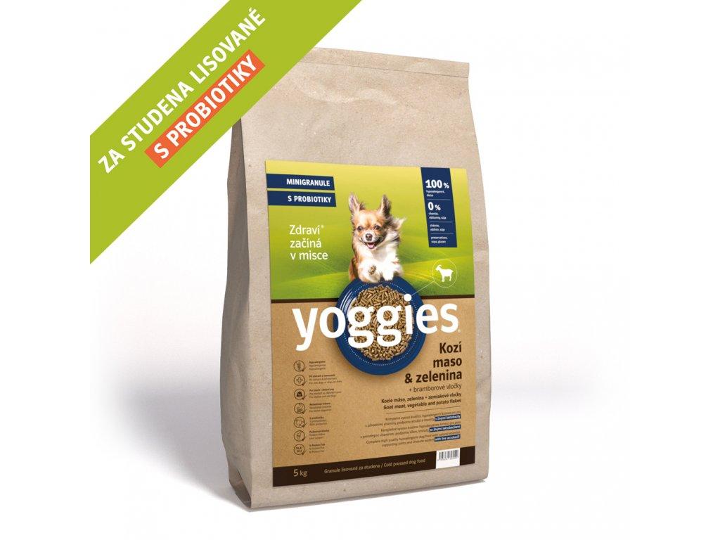 Yoggies 4 kg MINI Kozí granule lisované za studena s probiotiky
