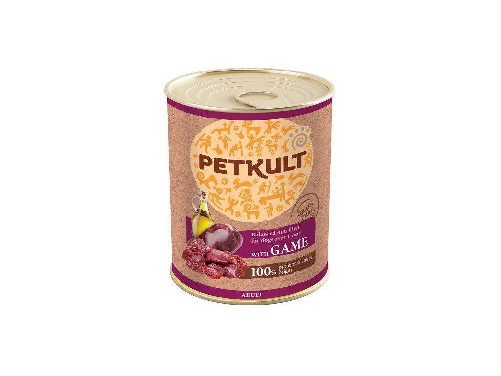 Petkult dog konz. ADULT 800g - Zvěřina