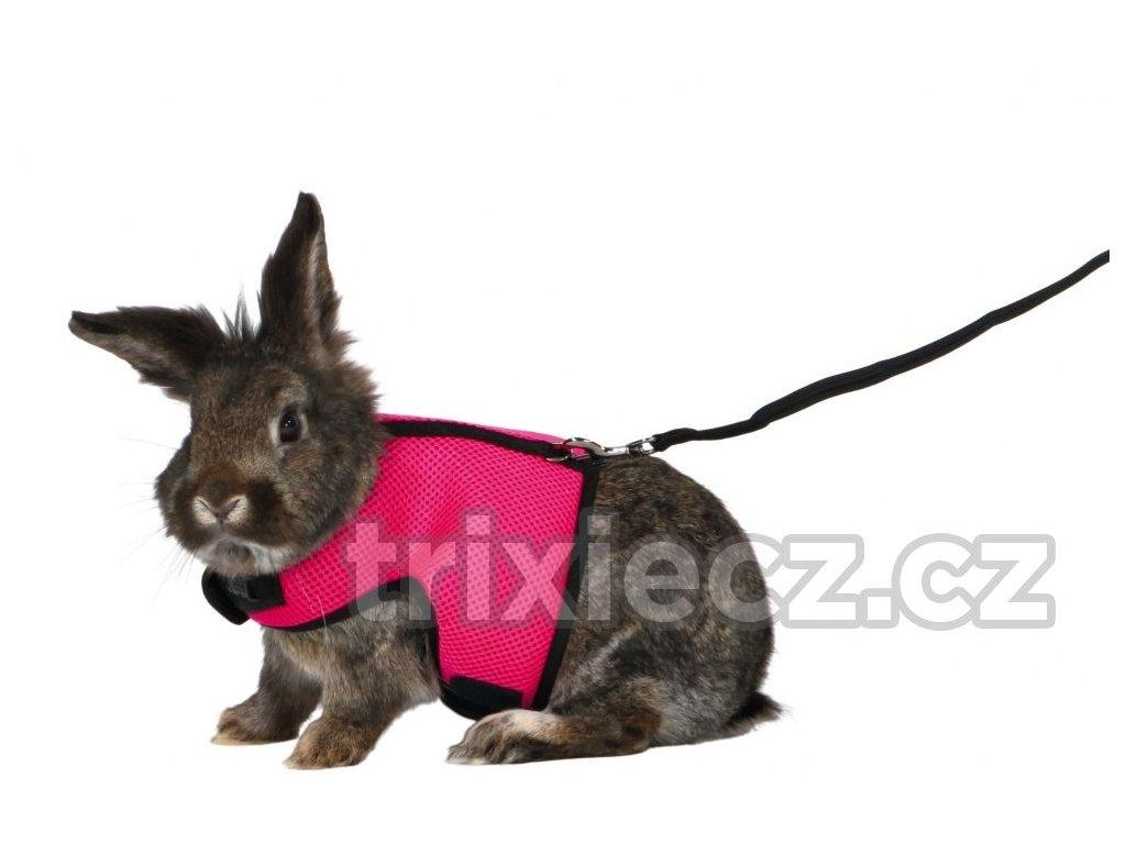 Postroj VESTA s vodítkem pro velkého králíka 25-40cm/1,20m