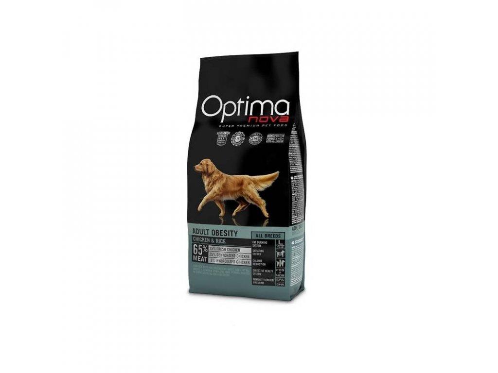 OPTIMAnova Dog OBESITY 12kg  + BRIT Let's Bite! Dog FILLET O'DUCK