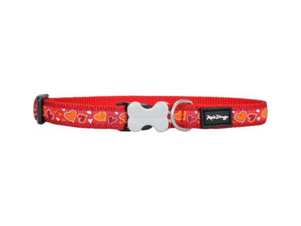 Obojek Red Dingo Breezy Love Red obojek 1,2/20-32cm