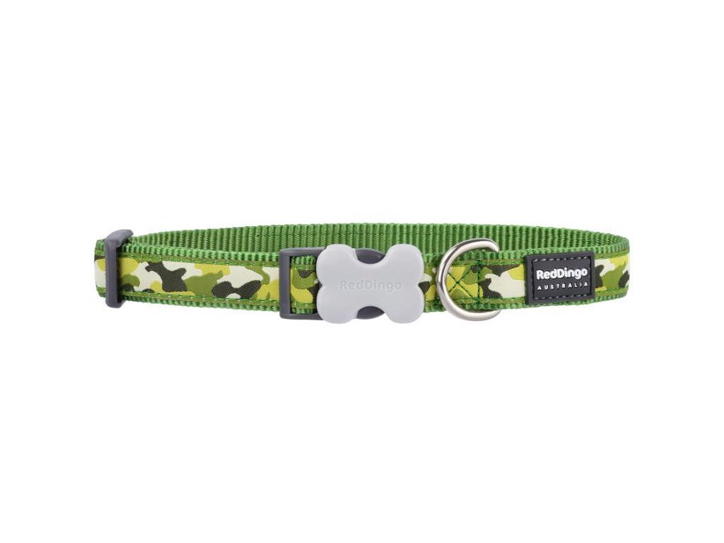Obojek RD CAMOUFLAGE GREEN 1,2/20-32cm