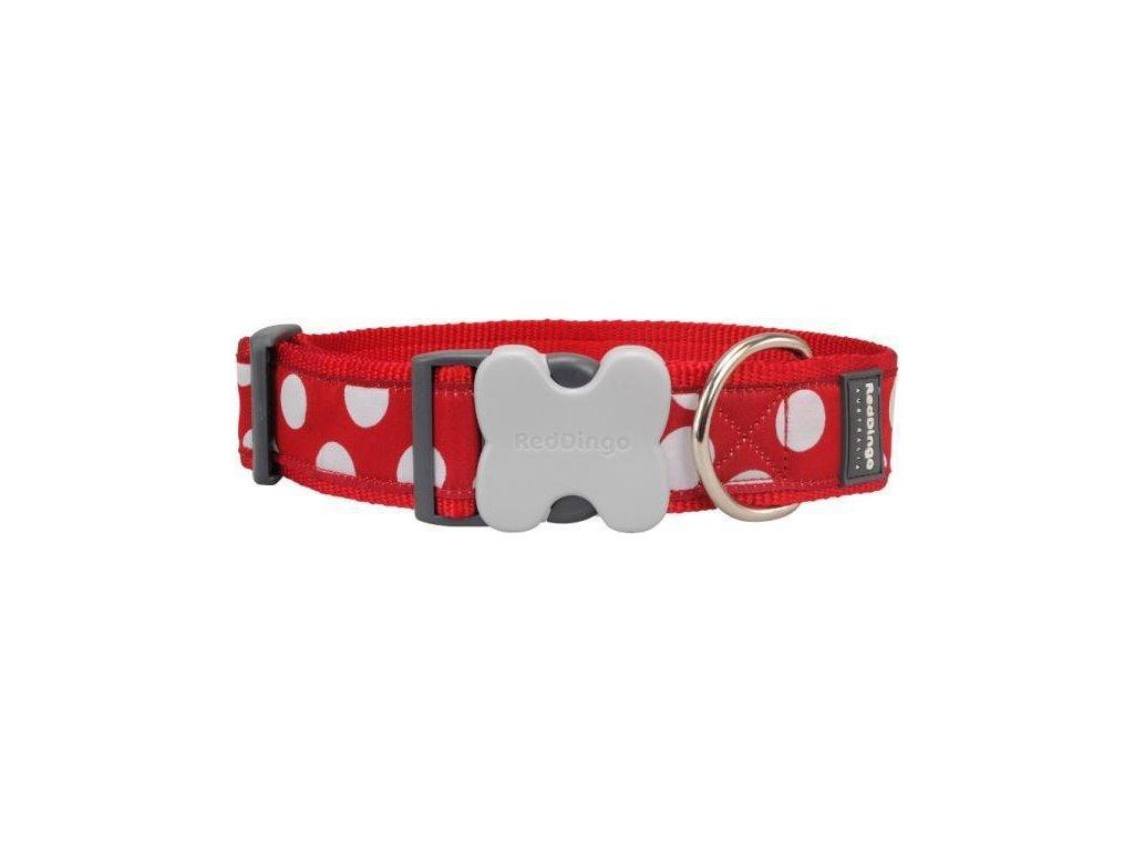 Obojek RD White Spots on Red 2,0/31-47cm