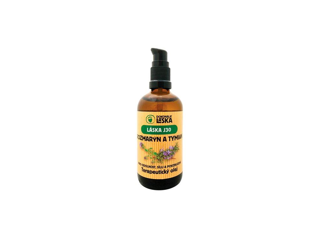 LÁSKA J30 ROZMARÝN A TYMIÁN - terapeutický olej - 100 ml