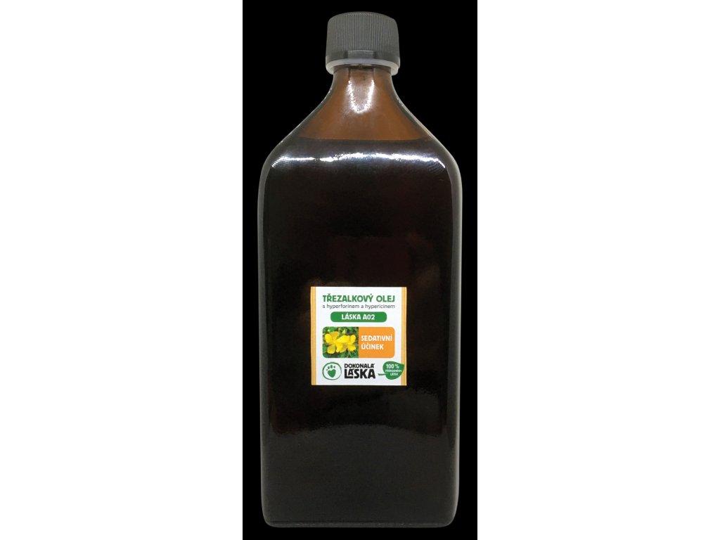 LÁSKA A02 TŘEZALKOVÝ OLEJ s hyperforinem a hypericinem - 500 ml