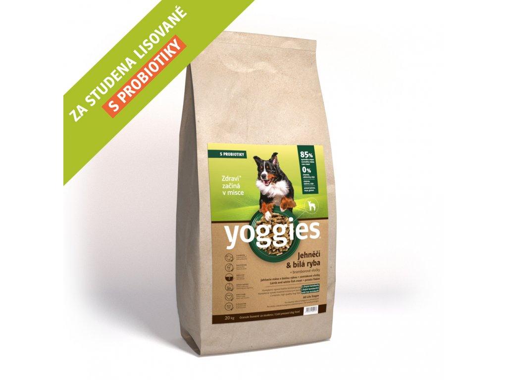 Yoggies 20 kg Jehněčí granule lisované za studena s probiotiky