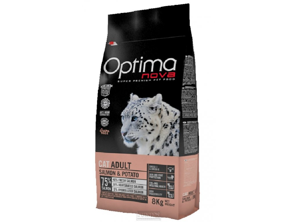 OPTIMAnova Cat SALMON Grain Free 8kg