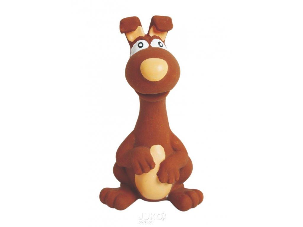 Latexová hračka se skutečným zvukem-Zvíře hnědé 15cm