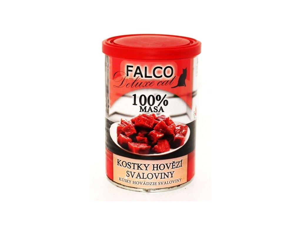 FALCO Cat Deluxe KOSTKY HOVĚZÍ SVALOVINY 400g