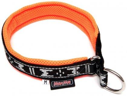 Obojek nylon polstrovaný - oranžový ManMat