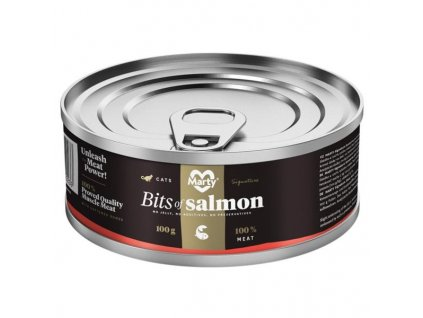 MARTY konz. pro kočky Signature-kousky lososa 100 g