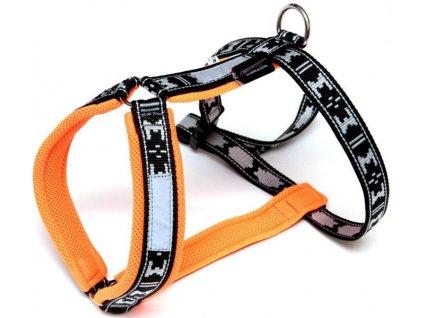 Postroj nylon Run - oranžová ManMat vel.S - krk 41-44 cm
