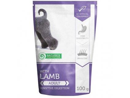 Nature's Protection Dog kaps. Adult Lamb 100g