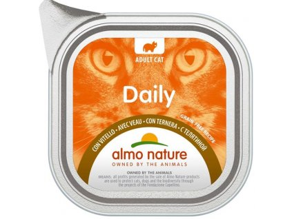 Almo Nature Daily Menu cat van. telecí 100g