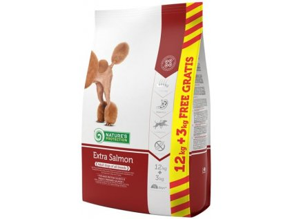 Nature's Protection Dog Dry Extra Salmon 12+3 kg