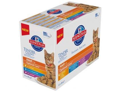 Hill's Science Plan Feline  Adult kapsička Chicken+Beef+Ocean Fish 12x85 g NOVÝ