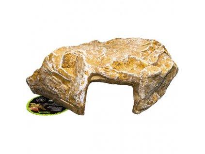 Dekorace umělá - jeskyně žlutá M Komodo 18,5x18,5x10cm