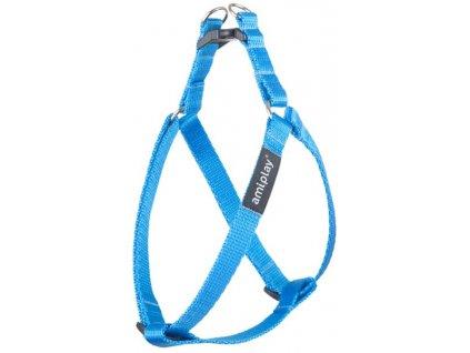 Postroj nylon Basic 1,5x30-55 blue amiplay