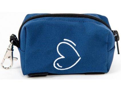 Kapsa na pytlíky zip výšivka srdce modrá