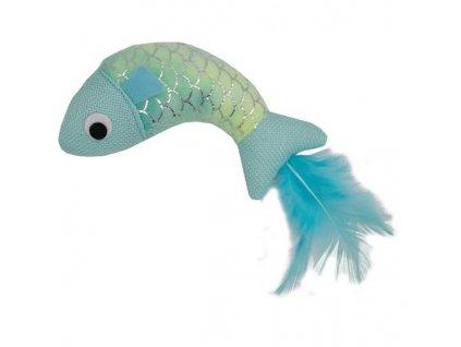Hračka cat plyš Mermaid rybka modrá HP