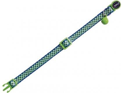 Nobby Design Green obojek s rolničkou pro kočky zelený 1ks