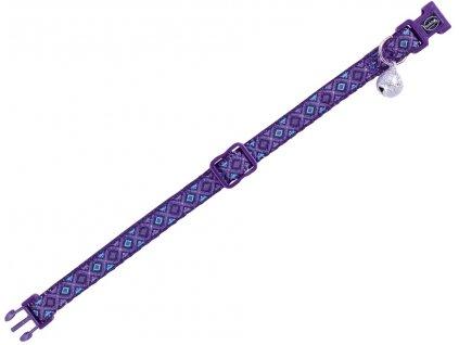 Nobby Design Lilac obojek s rolničkou pro kočky fialový 1ks