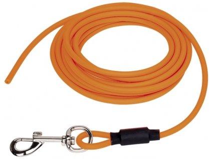 Nobby COVER kulaté stopovací vodítko bez smyčky pvc oranžová neon S-M 5m