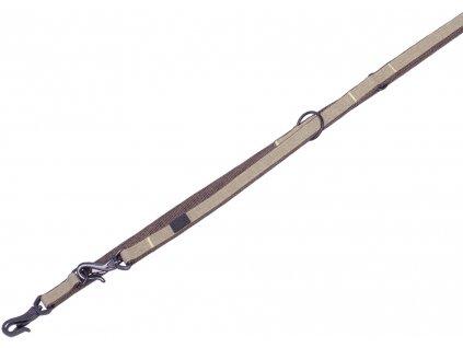 Nobby LINEN DELUXE vodítko nylon hnědá M-L 200cm 25mm
