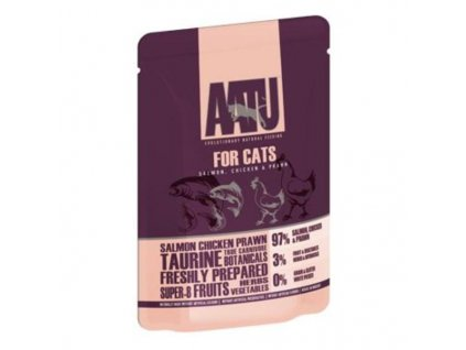 AATU Cat Salmon n Chicken n Prawn kaps. 15 x 85g  EXP 10/20 poslední KS