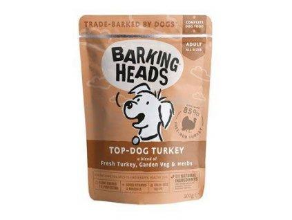 BARKING HEADS Top Dog Turkey kapsička 300g  + 4+1 Grátis / končí 30.9.20